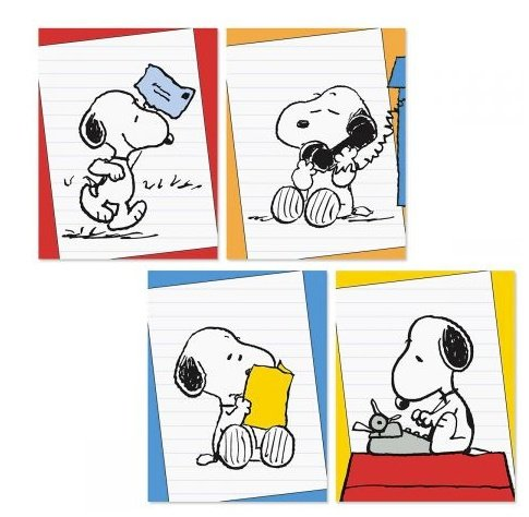 Peanuts Worldwide Snoopy Blank Note Cards, Set of 12 by Peanuts Worldwide