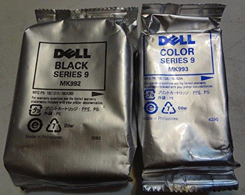 Printer Dell Inkjet Toner ((1 Black & 1 Color) Dell High Capacity Black & Color Combo Replacement Compatible Ink Cartridge (Series 9) for Dell 926 V305 & V305w MK991 MK993 All In One Printer Replacement ink Cartridge (Non-OEM inkjet cartridges))