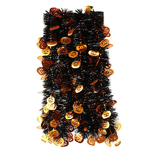 Elegant hanging tinsel garland halloween themed choose