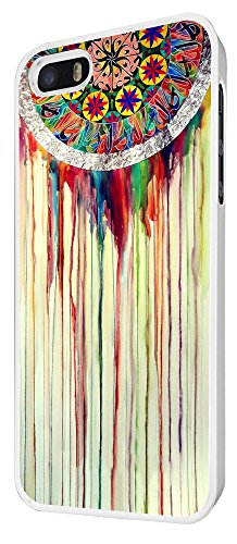 598 - WaterColour Dream Catcher Eastern Lucky Sharm Cool Design iphone 5 5S Coque Fashion Trend Case Coque Protection Cover plastique et métal - Blanc