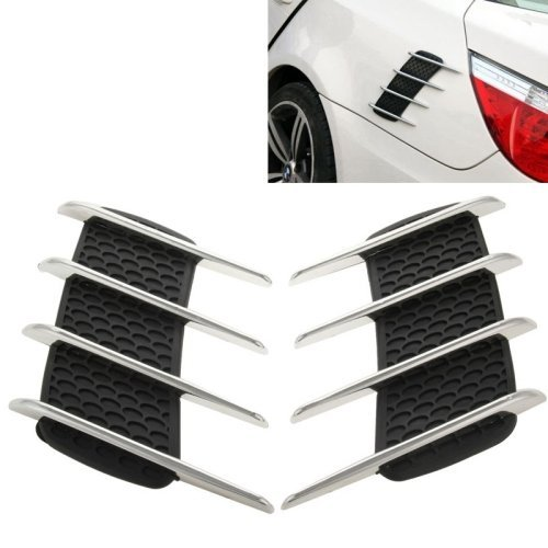 LOPURS Hood Side Shark Gill Simulation Air Flow Vent Fender Sticker for Car Decoration, Pack of 2, Size: 22cm x 20cm x (Decorations For Cars)