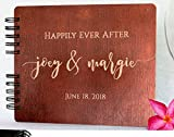 Wood Wedding Guest Book Personalized Wooden