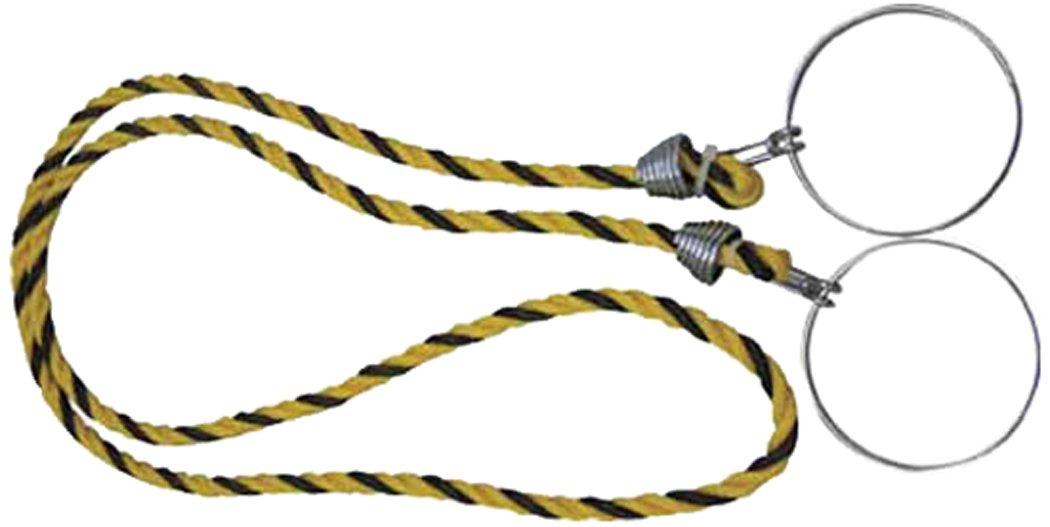 TRUSCO 三角コーン用ロープ 標識 12X2M