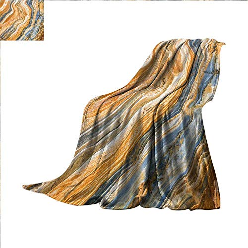 smallbeefly Marble Digital Printing Blanket Colorful Rock Quartz Surface Background Formation Abstract Picture Summer Quilt Comforter 80