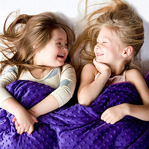 Harkla Weighted Blanket for Kids (7lbs) - Great for Sensory Seekers - Weighted Blanket for Children...