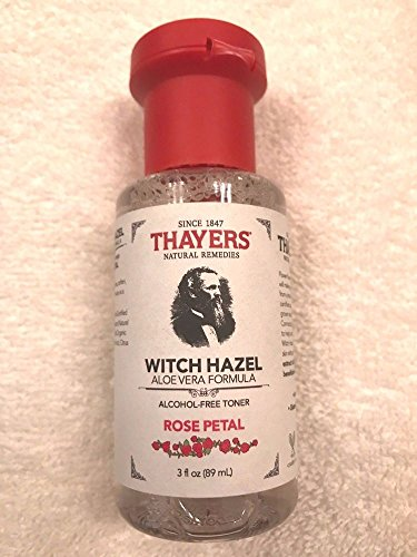 Price comparison product image Thayers Rose Petal Witch Hazel with Aloe Vera Alcohol-free (3 Ounces) Travel Size