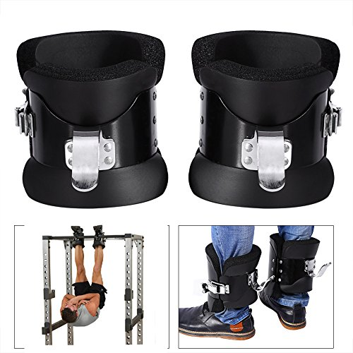 Yosoo Anti Gravity Inversion Hang Up Boots Inversion Boots Gravity Compression Relief Exercise Recovery with Contoured Pads