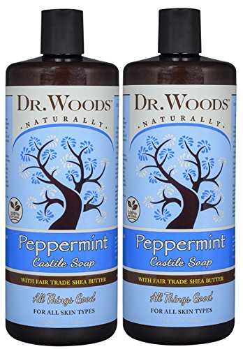 Dr. Woods Pure Peppermint Liquid Castile Soap with Organic Shea Butter, 32 Ounce (Pack of (Peppermint Herb Extract Liquid)
