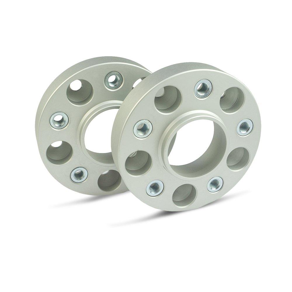 SCC Spurverbreiterung 13051BWS LK: 130//5 NLB: 84,1 GEW: M14x1,5-30mm 2 St/ück Buchse schwarz eloxiert
