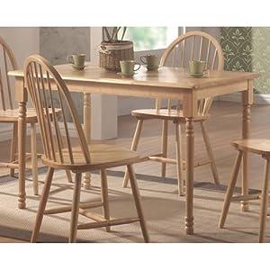 Rimworld Butcher Table In Kitchen : Amazon.com: Coaster Rectangular Butcher Block Farm Dining Table,Solid Natural Wood Finish ...
