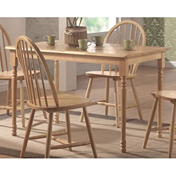 butcher block dining table set room and chairs diy amazon coaster country oak white finish wood kitchen
