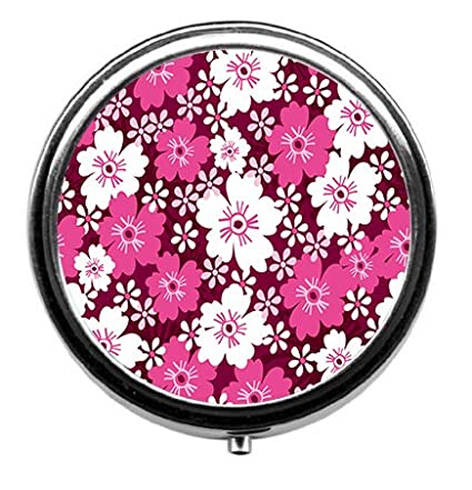 Amazon big and small pink flower pill box 3 compartment round big and small pink flower pill box 3 compartment round pill case mightylinksfo