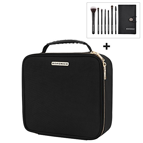 SONGMICS Hardshell Makeup Train Case, Cosmetic Bag Organizer