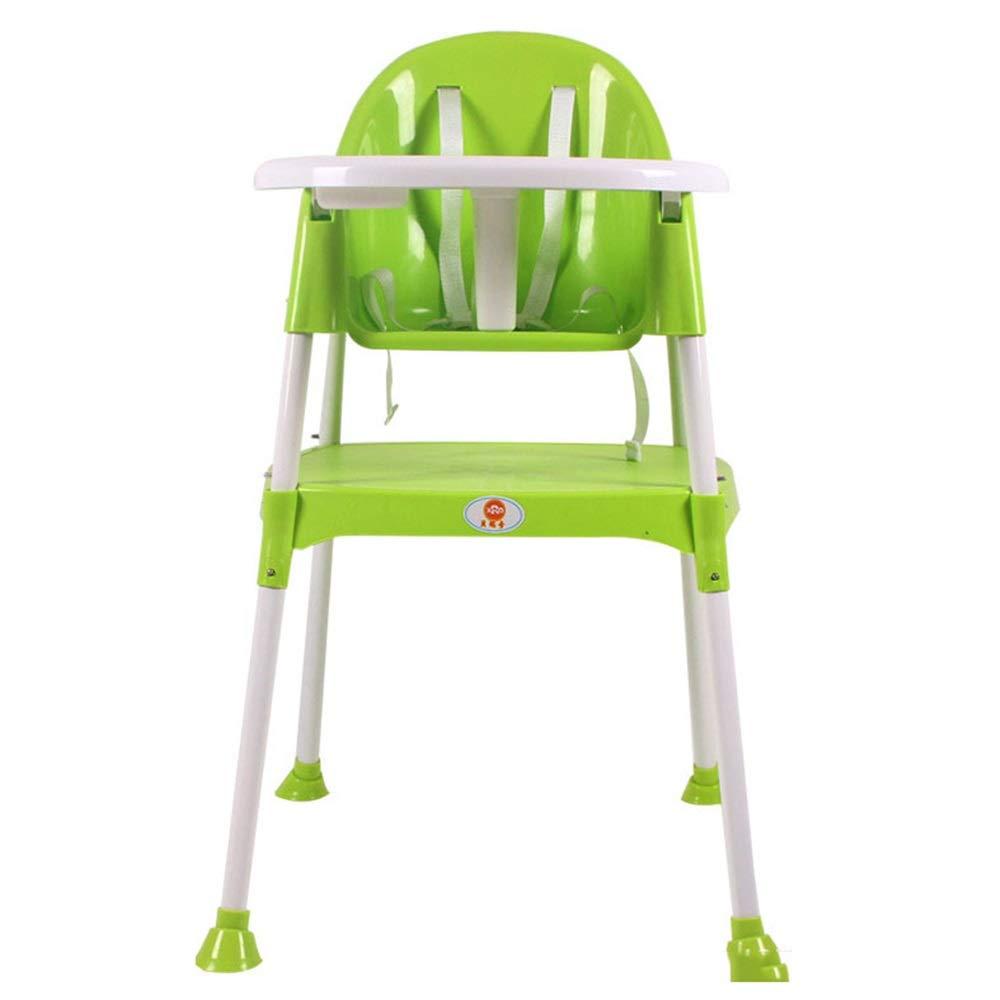 子供用テーブルと椅子 子供の多機能調節可能な滑り止めベビー給餌Dinetteハイチェアトレイベビーハイチェア2で1 (色 : 緑, サイズ : 49*56*88cm) 49*56*88cm 緑 B07T59X73V