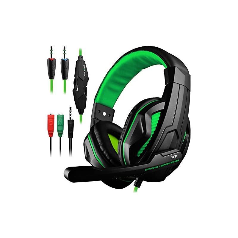 Gaming Headset,DLAND 3.5mm Wired Bass St