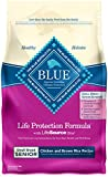 Blue Buffalo Life Protection Formula Small Breed Senior Dog Food – Natural Dry Dog Food for Senior Dogs – Chicken and Brown Rice – 6 lb. Bag