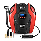 Air Compressor Oasser Tire Inflator Portable Air Pump Inflator for Cars Bicycles Motorcycles Balls RV and Other Inflatables with LED Light Accurate Pressure Gauge 12V P6