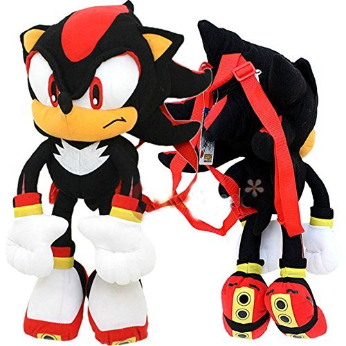 Shadow Sonic Costume (Sonic The Hedgehog Shadow Plush Doll Bag Custom Backpack 21