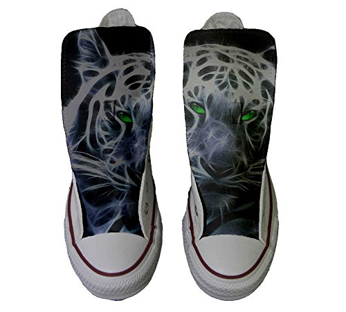 with personalizados eyes green All Converse zapatos Customized Star Producto tigre Artesano blanco UAWPzBW