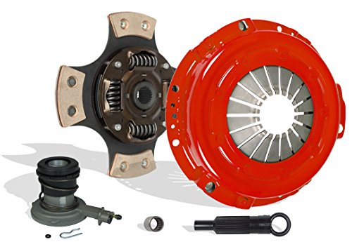 Clutch And Slave Kit Works With Ford Aerostar Ranger Bronco II 1985-1987 2.0L 2.3L L4 GAS SOHC 2.8L 2.9L V6 GAS OHV Naturally Aspirated 2.3L L4 DIESEL OHV Turbocharged (4-Puck Clutch Disc Stage 3)