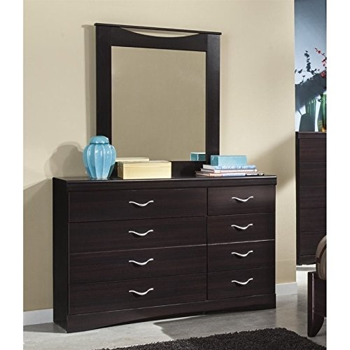 Ashley Zanbury 2 Piece Wood Dresser Set in Merlot