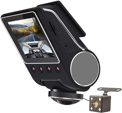 1080P Full HD WIFI Camera Voiture,360/° IR Nuit Vision Avant Arriere Double Dashcam Embarqu/ée Moniteur Enregistreur de Surveillance avec Capteur-G D/étection Mouvement pour 24H Surveillance Parking