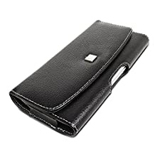 GreatShield BLAST Series Genuine Leather Case Holster with Belt Clip for Samsung Galaxy S4 IV GT-i9500 / Galaxy S3 S III i9300, HTC One, Blackberry Z10, Google Nexus 4, Sony Xperia ZL / Z, Nokia Lumia 900 / 822 / 920 - Black