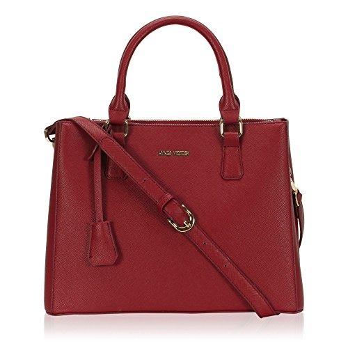 (Hynes Victory Womens Classy Satchel Handbag (Red))
