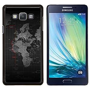 LECELL--Funda protectora / Cubierta / Piel For Samsung Galaxy A7 A7000 -- Mapa del mundo --