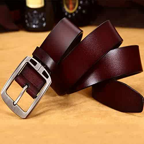 b9ae3b49d 105-125cm Genuine Leather Men's Belts Single Prong Buckle Belt Classic and  Fashion Design Business