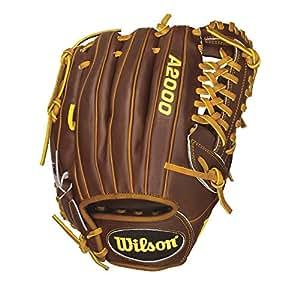 Wilson A2000 CJ Wilson Pitcher Baseball Glove, Walnut/Saddle Tan Laces, Right Hand Throw, 12-Inch