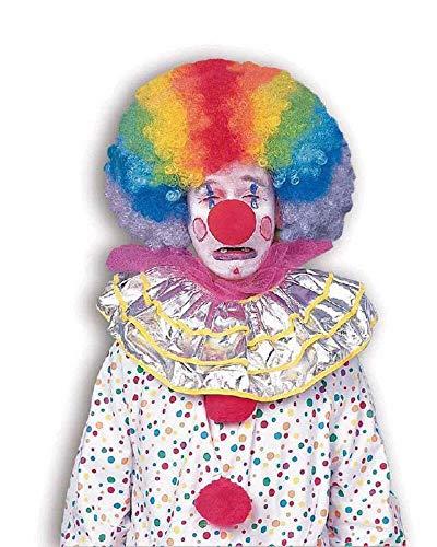 Forum Novelties Men's Jumbo Rainbow Clown Costume Wig, One Size