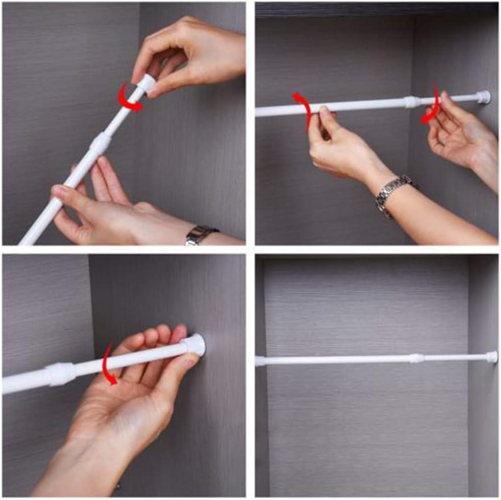 90/cm 30-50cm PERIWIN Durable Printemps Extensible Home de Salle de Bain Rideau en Acier Carbone Pole r/églable Rod/ /55