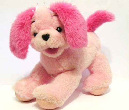 HARD TO FIND! 2001 Mattel Barbie Perfectly Plush Fashion Talking Puppy (Measures 9 1/2 High x 9 Long x 5 1/2 Wide)