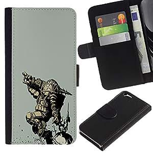 Gran papá - la tarjeta de Crédito Slots PU Funda de cuero Monedero caso cubierta de piel Para Apple (4.7 inches!!!) iPhone 6 / 6S