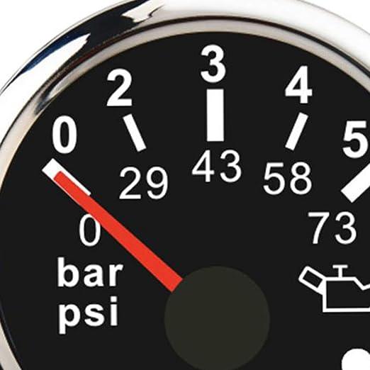 Almencla 52 Mm Universal Öldruckanzeige Für Auto Motorrad Boot Dc 8 16v Dc 18 32v In Schwarz Auto