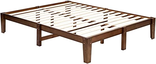Bonnlo 14 Inch Solid Wood Platform Bed Frame
