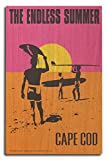 Cape Cod, Massachusetts - The Endless Summer - Original Movie Poster (10x15 Wood Wall Sign, Wall Decor Ready to Hang)