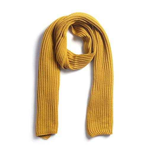 Mustard Knitted Scarfs for Women 78x16