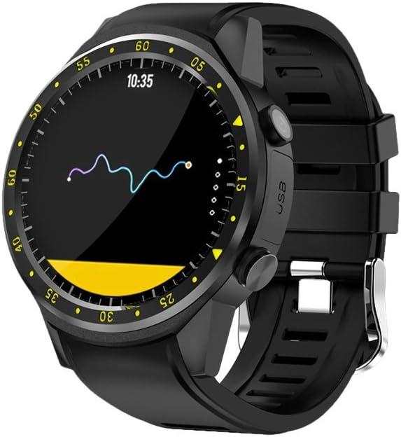NICERIO Reloj Deportivo Inteligente con cámara GPS Soporte Monitor de frecuencia cardíaca Cronómetro Reloj de Actividad Bluetooth Smartwatch para teléfono iOS Android (Negro)