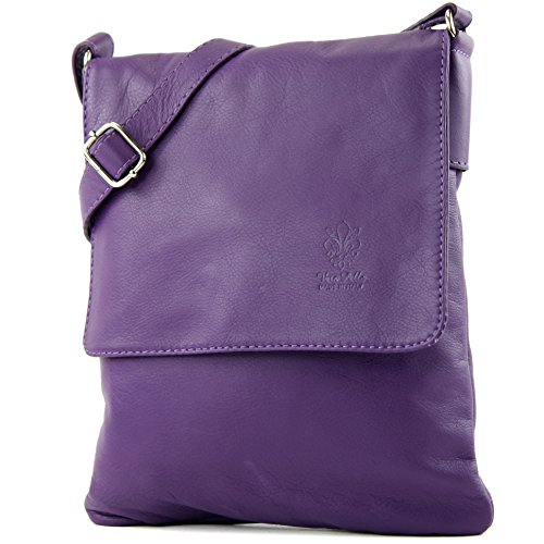 T33 Messenger de bag ital modamoda ladies leather Purple bag Shoulder wftSASq8