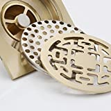 YLHM Floor drain/full copper toilet bath stainless steel odor prevention and insect proof square floor drain floor water drop - all copper floor drain