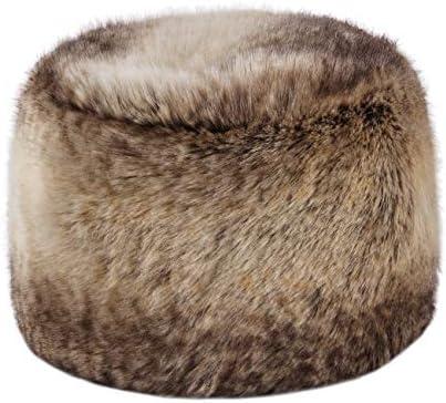 Futrzane Detachable Faux Fur Collar Wrap for Women Ginger Fox Like Real Fur Retro Scarf