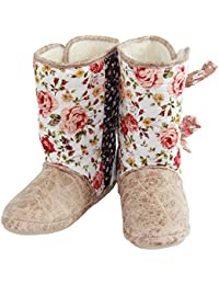 Floral Boot Slippers With Ties Multi