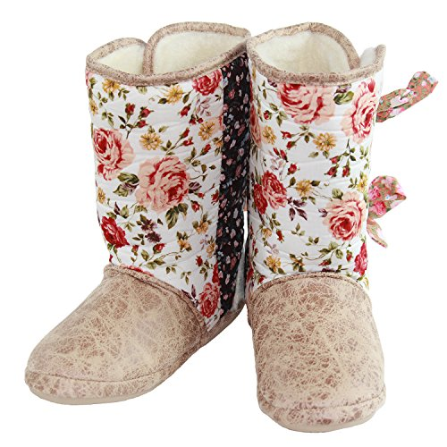 Slippers Floral Ties Multi with CicciaBella Boot EHvqpw