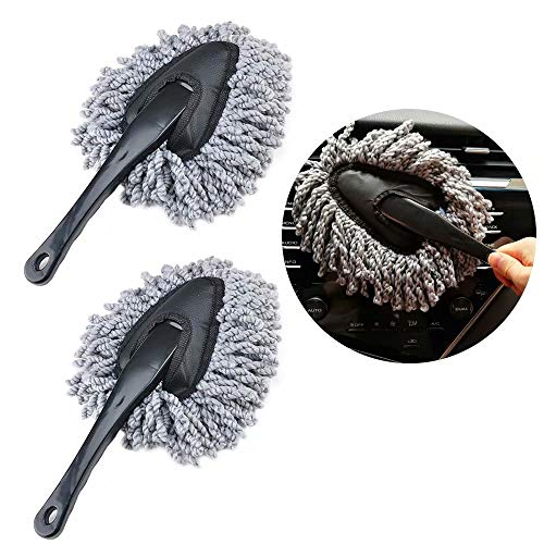 IPELY 2 Pack Super Soft Microfiber Car Dash Duster Brush for Car Cleaning Home Kitchen Computer Cleaning Brush Dusting Tool