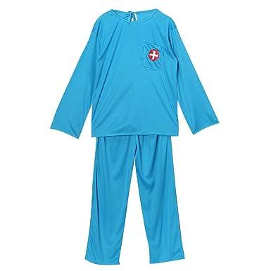 kids blue medical doctor or scubs dress up costume set size 810