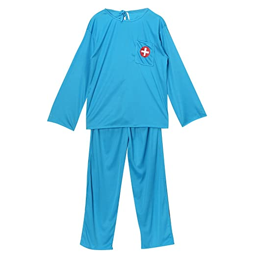 Kids Blue Medical Doctor or Scubs Dress Up Costume Set, size 8/10