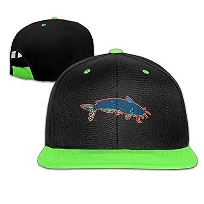 Kids Catfish Art Cute Hip Hop Snapback Hats Child Cap from Swesa