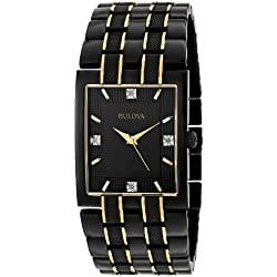 Bulova Men's 98D004 Diamond Dial Watch
